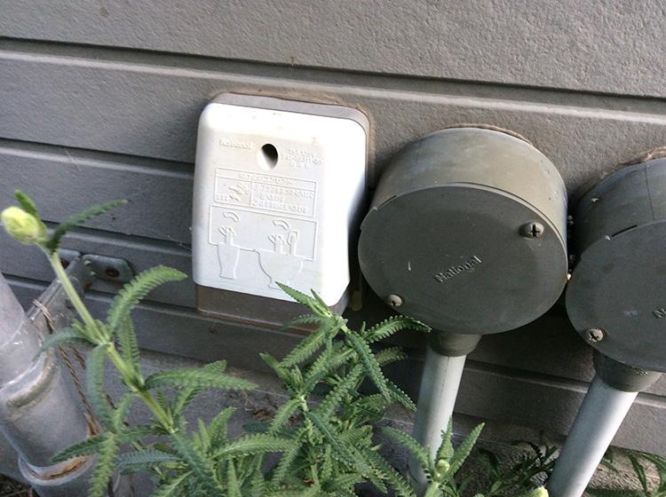 家の外陰の100Vコンセント