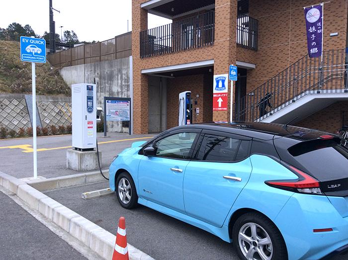 滋賀の道の駅妹子の郷急速・普通充電スタンド