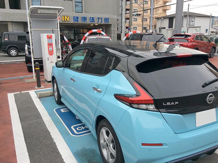 京都三菱自動車山科店急速充電スタンド