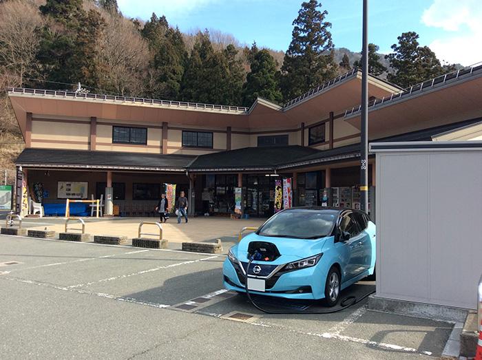 道の駅マキノ追坂峠駐車場の急速充電スタンド