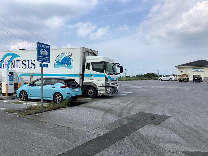 滋賀のファミリーマート 近江八幡白王町店急速充電スタンド